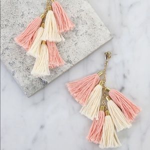 NEW Etikka Gold Plated Tassel Statement Earrings